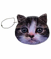 Blue Banana Cat Face Purse (Grey)
