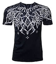 Affliction American Custom Eagle Pride Lava T Shirt (Black)