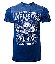 Affliction American Clothing Inquisition Lava T Shirt (Navy)