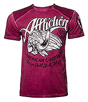 Affliction Custom Skull Shaker T Shirt (Red)