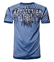 Affliction American Clothing Secure T Shirt (Blue)