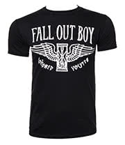 Fall Out Boy Hourglass T Shirt (Black/White)