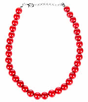 Blue Banana One Size Pearls Necklace (Red)