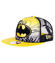 New Era Batman Hero 9FIFTY Snapback Hat (Black/Yellow)