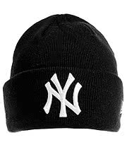 New Era New York Yankees Beanie (Black/White)