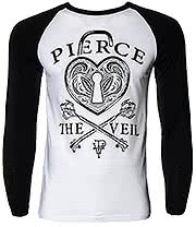 Pierce The Veil Heartlock Baseball Top (Black/White)