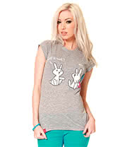 Flip Flop & Fangs Will It Hurt Skinny T Shirt (Grey)