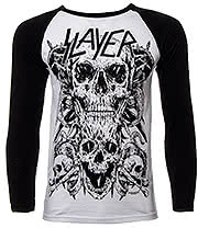 Slayer Skulls Baseball Top (Black/White)