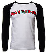 Iron Maiden Trooper Baseball Top (Black/White)