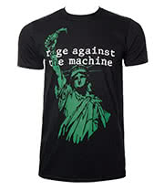 Rage Against The Machine Liberty T Shirt (Black/Green)