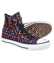 Converse All Stars Dual Zip Plaid Boots (Multi)