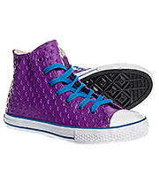 Converse All Star Kids Allium Hi Top Boots (Purple)