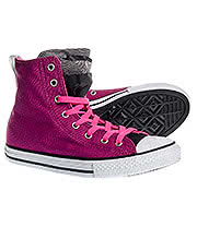 Converse All Stars Kids Party Hi Top Boots (Pink Sapphire)