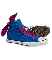 Converse All Star Kids Bow Back Hi Top Boots (Cyan Space Blue)
