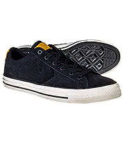 Converse All Stars Player Ox Leather Shoes (Black Egret)