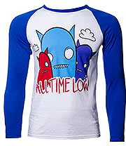 All Time Low Monster Baseball Tee (Blue/White)