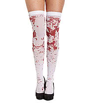 Blue Banana Blood Splatter Hold Ups (White)