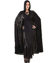 Fancy Dress Velvet Devil Cape (Black)