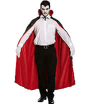 Reversible Cape Fancy Dress Costume (Red/Black)