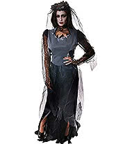 Zombie Widow Fancy Dress Costume