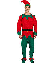 Xmas Elf Fancy Dress Costume (Green/Red)