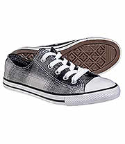 Converse All Stars Dainty Plaid Shoe (Black/White)