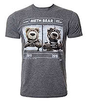 Chunk Clothing Meth Bear T Shirt (Grey)