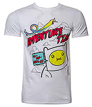 Adventure Time Algebraic T Shirt (White)