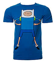 Adventure Time Finn T Shirt (Blue)