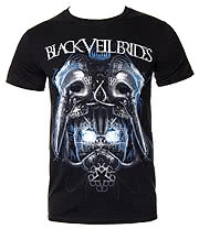 Black Veil Brides Metal Mask T Shirt (Black)