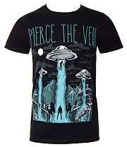 Pierce The Veil Alien Abduction T Shirt (Black)