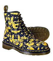 Dr Martens 1460 Adventure Time Jake Print Canvas Boots (Black/Yellow)