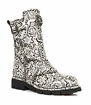 New Rock Boots Style M.1471-S20 Flower Boot (Cream)