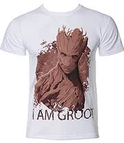 Guardians Of The Galaxy I Am Groot T Shirt (White)