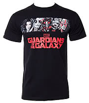 Guardians Of The Galaxy Team T Shirt (Black)