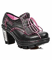 New Rock Boots Style M.NEOTR004-S3 Shoe (Black/Pink)