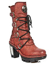 New Rock Boots Style M.NEOTR005-S14 Boots (Red Flower)