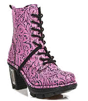 New Rock Boots Style M.NEOTR006-S6 Boot (Pink)