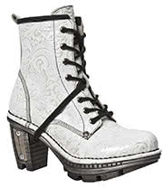 New Rock Boots Style M.NEOTR008-S5 Vintage Boot (White)
