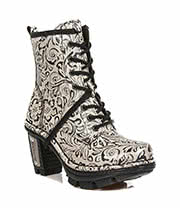 New Rock Boots Style M.NEOTR008-S30 Flower Boot (White)