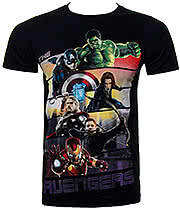 Avengers Bars T Shirt (Black)