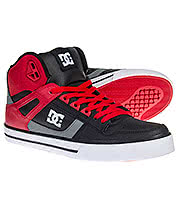 DC Shoes Spartan Hi WC Boot (Red/Black/Grey)