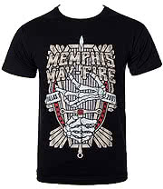 Memphis May Fire Coffin T Shirt (Black)