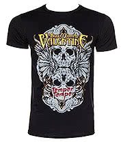 Bullet For My Valentine Winged Skull T Shirt (Black)