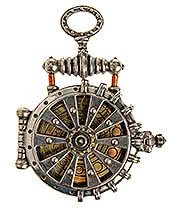 Alchemy Gothic EER Patent Solar-Powered Fob Watch (Pewter)