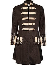 Golden Steampunk Troubadour Coat (Brown)