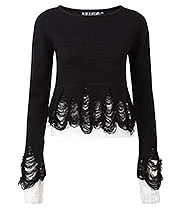 Killstar Lestat Knitted Top (Black)