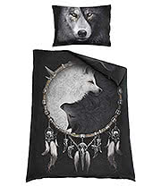 Spiral Direct Wolf Chi Single Duvet Set (Black)
