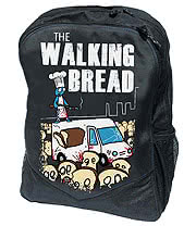 Flip Flop & Fangs Walking Bread Backpack (Black)