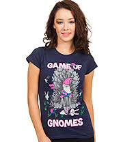 Flip Flop & Fangs Game Of Gnomes Skinny T Shirt (Navy)